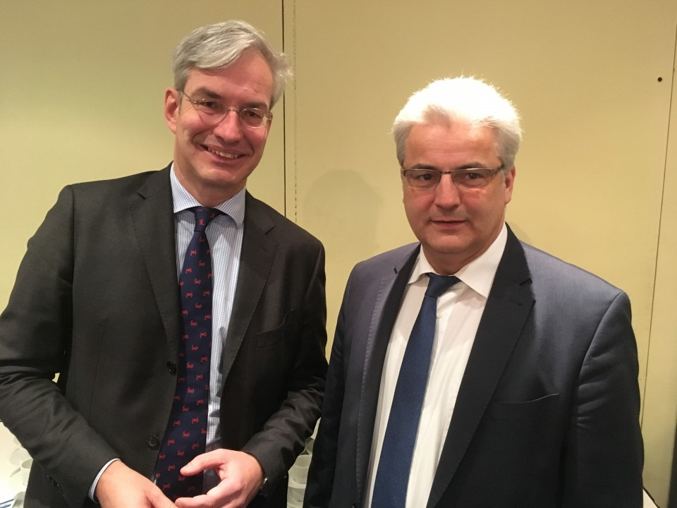 Dr. Mathias Middelberg MdB mit unserem Kreisvorsitzenden Axel Knoerig MdB